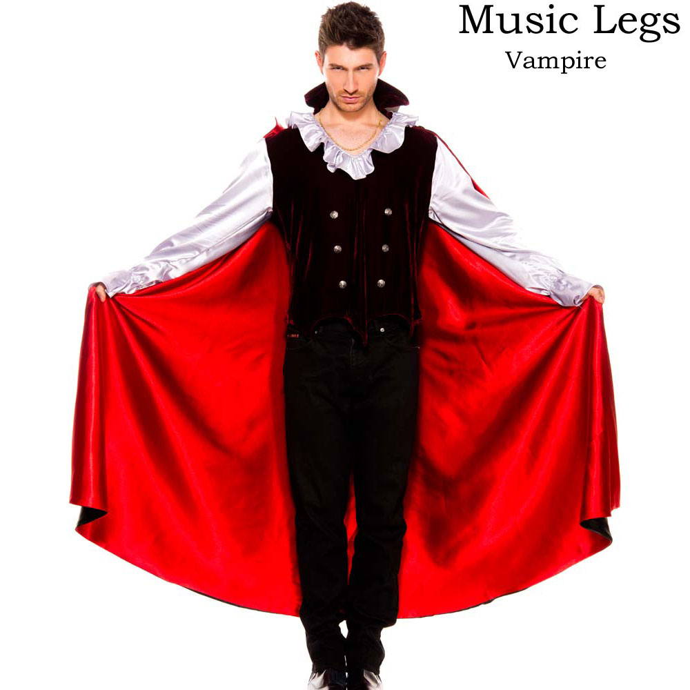 ポイント16倍 ミュージックレッグス Music Leg バンパイア 吸血鬼 メンズ コスプレ Mサイズ
