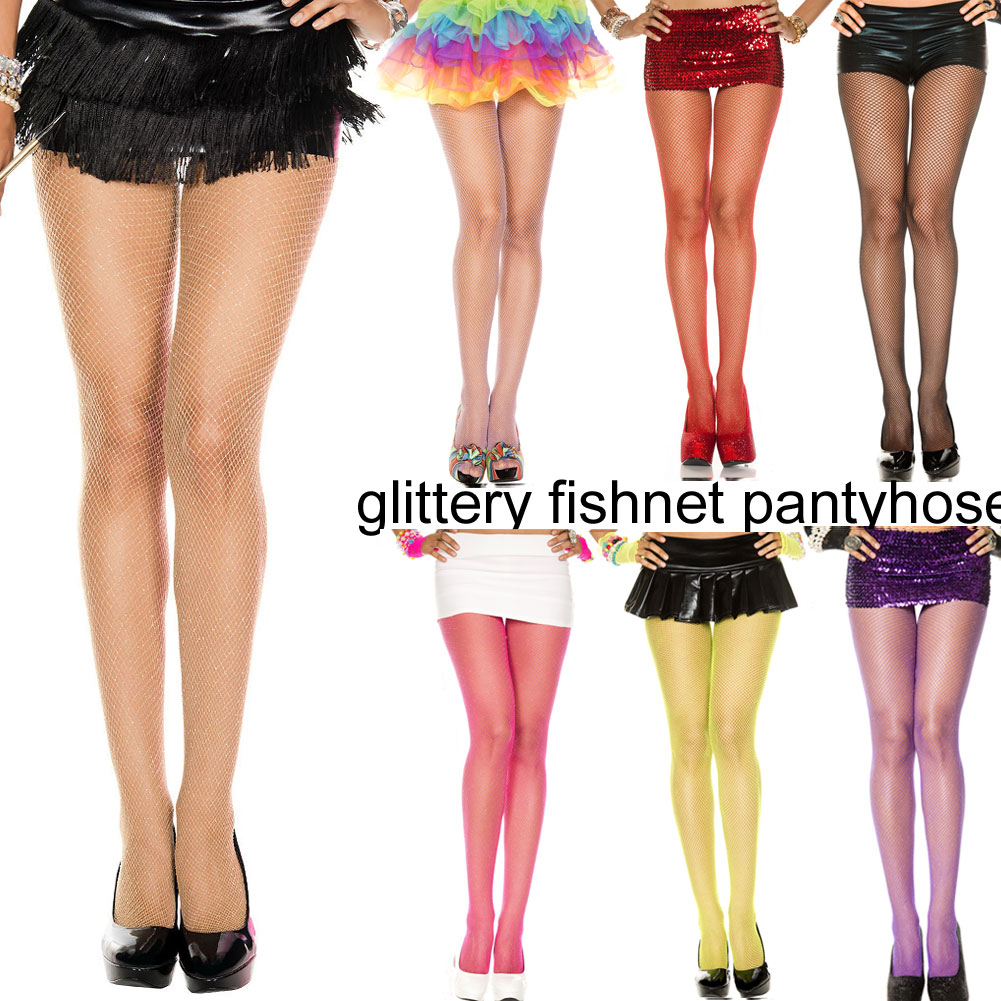 e4964c0b03d3c Music legs Music Legs stockings NET tights panty hose glitter lame spandex  seamless 9 colors ...