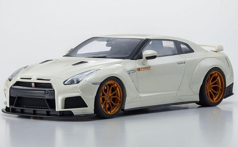 京商ダイキャスト 1 18 人気商品 プライアデザイン PD750WB GT-R Pホワイト R35 ついに再販開始 GTS030KJ 4548565367207