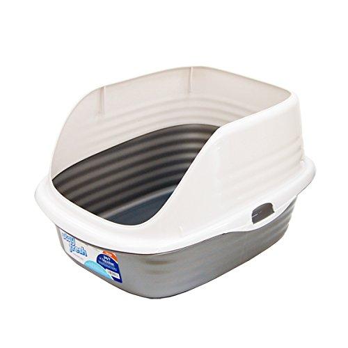 【Petmate】抗菌ネコトイレ cleancat シルバー ×5個セット 【 ペットグッズ 猫用品 猫 ねこ ネコ トイレ用品 トレーナー・トイレ容器 】