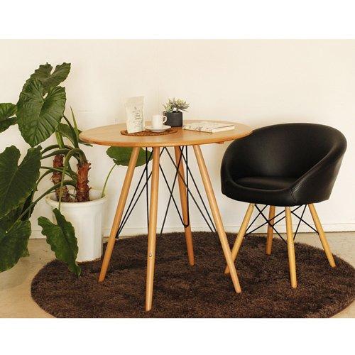 木目調であたたかいカフェテーブル ルクロ カフェテーブル NA