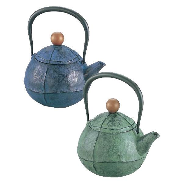 池永鉄工 鉄瓶 くる・む 約1.0L グリーン 1068891 / 日本製の鉄瓶。
