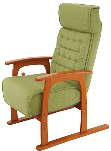 83-806【若葉】コイルバネ高座椅子