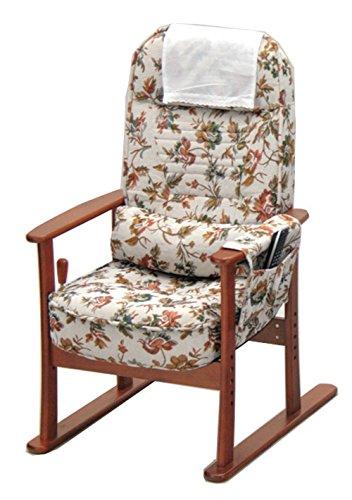 83-884肘付き高座椅子 安定型(ベージュフラワー)
