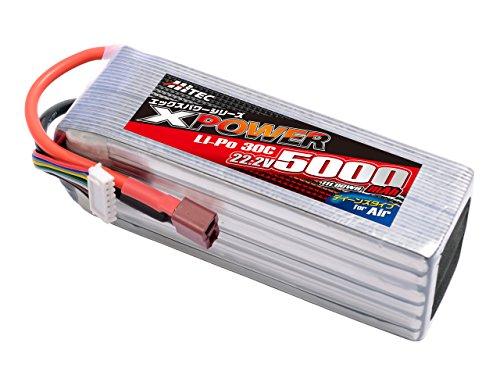 HITEC XPOWER Li-Po 22.2V 5000mAh 30C (for Air) 正規品 XP1044121PH [日本正規品]