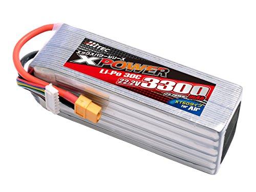 HITEC XPOWER Li-Po 22.2V 3300mAh 30C (for Air) 正規品 XP6842125PH [日本正規品]