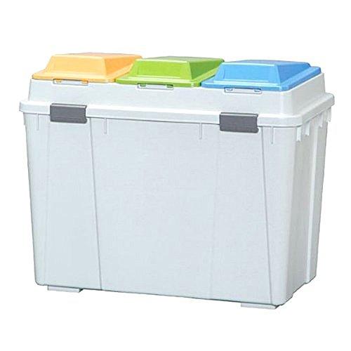 アイリスオーヤマ ゴミ箱 3分類 深型 ベージュ 45L*3 BPW-780D / インテリア インテリア小物 ゴミ箱 ごみ箱 トラッシュボックス 分別用