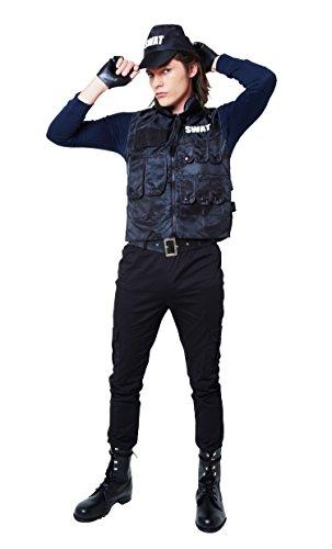 MAGICALBODY マジカルSWAT コスチューム メンズ ~180cm 【クリアストーン正規品】