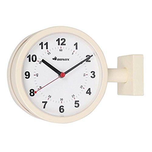 【 DULTON DOUBLE FACE CLOCK 170D IVORY S624-659IV 】 両面時計 壁設置 ウォールクロック 壁掛け時計 ダルトン ダブルフェイス クロック アイボリー