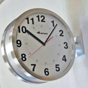 【 DULTON DOUBLE FACES WALL CLOCK SV S82429SV 】 両面時計 壁設置 ウォールクロック 壁掛け時計 ダルトン ダブルフェイス クロック シルバー