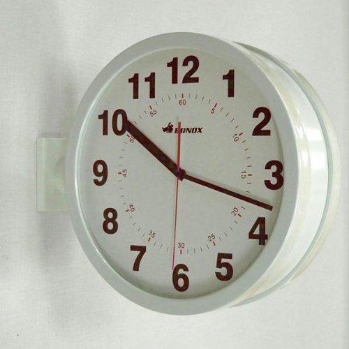 【 DULTON DOUBLE FACES WALL CLOCK IV S82429IV 】 両面時計 壁設置 ウォールクロック 壁掛け時計 ダルトン ダブルフェイス クロック アイボリー