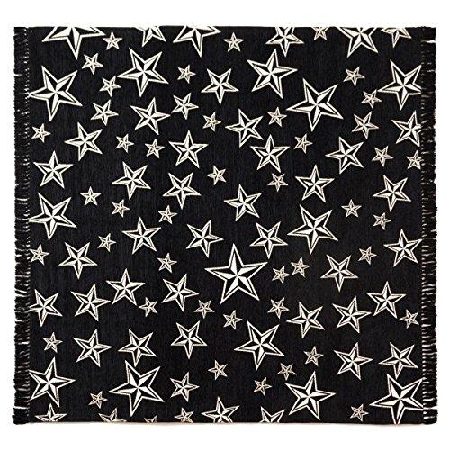 スターフリンジ ラグ 200×200cm STAR FRINGE RUG [ ブラック ]