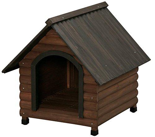 アイリスオーヤマ ログ犬舎 ダークブラウン LGK-750 / ペット ペットグッズ 犬用品 ハウス 犬小屋 中型犬用 屋外用