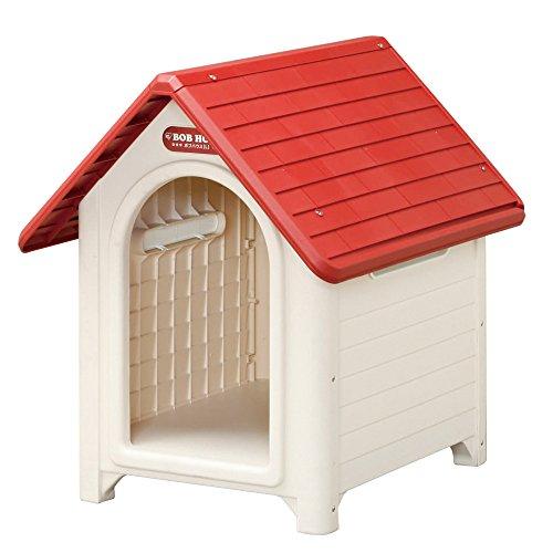 アイリスオーヤマ ボブハウス レッド/オフホワイトL / ペット ペットグッズ 犬用品 ハウス 犬小屋 中型犬用 屋外用