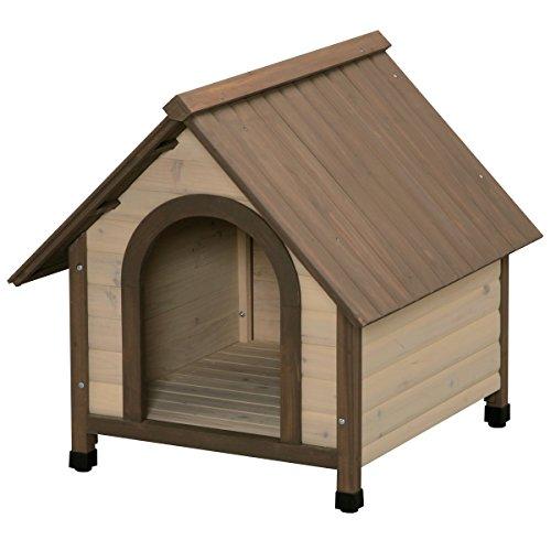 アイリスオーヤマ ウッディ犬舎 ブラウン WDK-750 / ペット ペットグッズ 犬用品 ハウス 犬小屋 中型犬用 屋外用