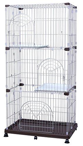 アイリスオーヤマ ステンレスペットケージ 3段 W93×D63×H178cm P-SPEC-903 / ペット ペットグッズ 犬用品 ケージ