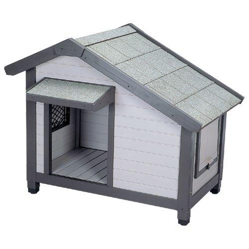 アイリスオーヤマ コテージ犬舎 CGR-1080 グレー / ペット ペットグッズ 犬用品 ハウス 犬小屋 大型犬用 屋外用