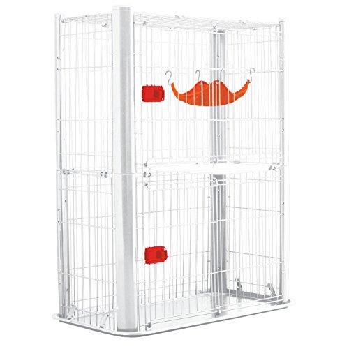 アイリスオーヤマ カラースリムケージ ホワイト 2段 W91×D50×H115cm P-CSC-902 / ペット ペットグッズ 犬用品 ケージ