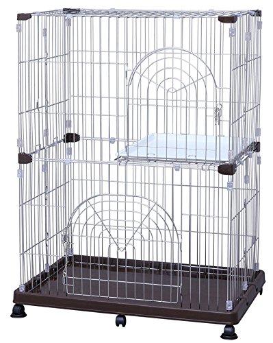 アイリスオーヤマ ステンレスペットケージ 2段 W93×D63×H121cm P-SPEC-902 / ペット ペットグッズ 犬用品 ケージ