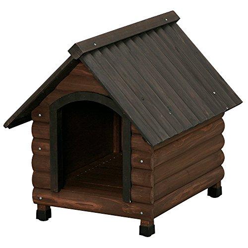 アイリスオーヤマ ログ犬舎 ダークブラウン LGK-600 / ペット ペットグッズ 犬用品 ハウス 犬小屋 中型犬用 屋外用