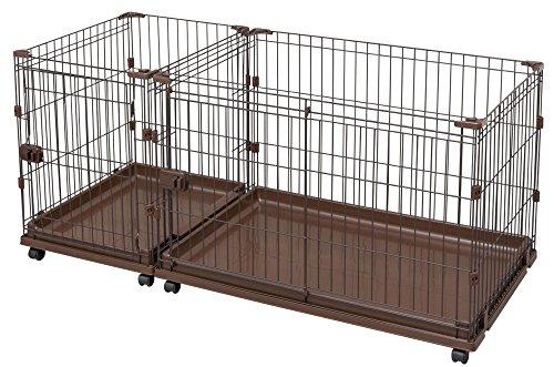 アイリスオーヤマ コンビネーションサークル わんこ向けトイレトレーニングセット ブラウン幅141×奥行65cm P-CS-1400 / ペット ペットグッズ 犬用品