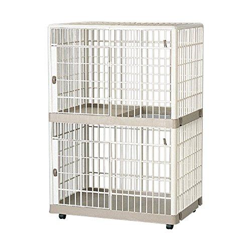 アイリスオーヤマ プラケージ812 ベージュ W82.5×D56.5×H118.9cm / ペット ペットグッズ 犬用品 ケージ
