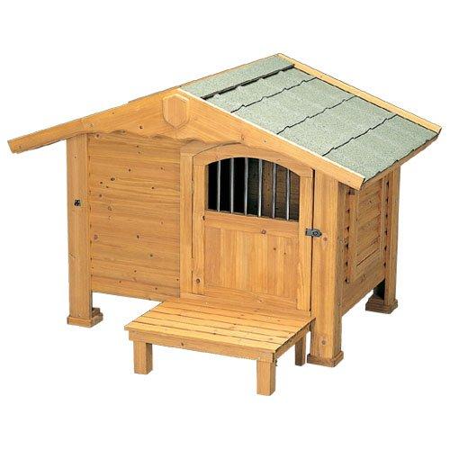アイリスオーヤマ ロッジ犬舎 RK-1100 ブラウン / ペット ペットグッズ 犬用品 ハウス 犬小屋 大型犬用 屋外用