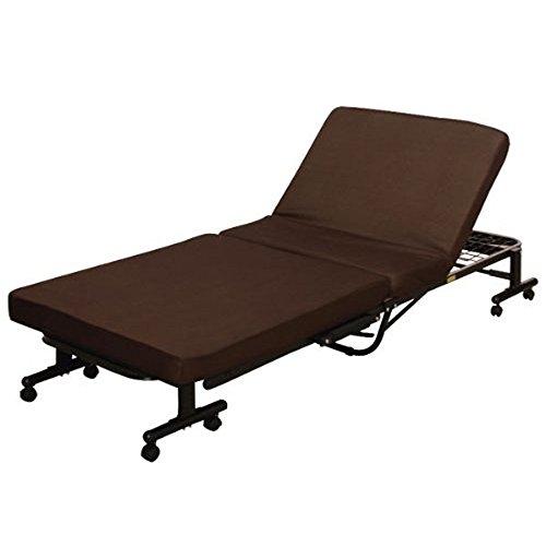 アイリスオーヤマ 折りたたみ電動ベッド リクライニング ブラウン OTB-TD / インテリア 寝具 ベッド 電動 リクライニングベッド