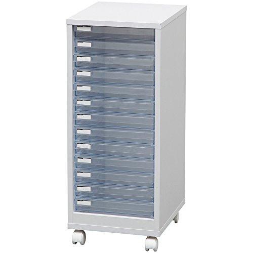 アイリスオーヤマ レターケース 木製 浅型13段 MFE-7130 ホワイト / インテリア 収納 オフィス家具 オフィス収納 書類収納 レターケース