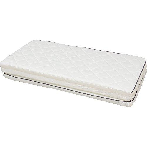 アイリスオーヤマ エアリーマットレス 高反発 三つ折り 通気性 洗える 抗菌防臭 ダブル ホワイト MARS-D / インテリア 寝具 マットレス