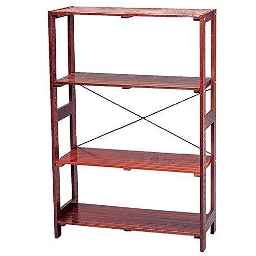 アイリスオーヤマ ラック 木製 ウッディラック 幅83.5×奥行35×高さ118.5cm ブラウン WOR-8312 / インテリア 収納 収納家具 ラック ウッドラック