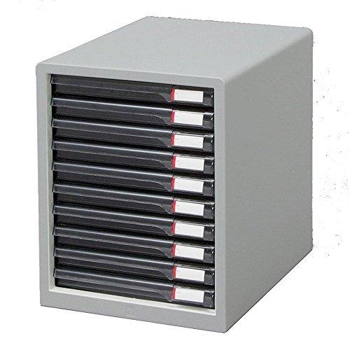 アイリスオーヤマ レターケーススリムタイプ L-10SR L-10SR ライトグレー 00011674 【まとめ買い3個セット】 / インテリア 収納 オフィス家具 オフィス収納 書類収納 レターケース