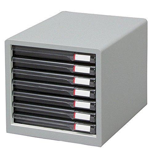 アイリスオーヤマ レターケース(スリム) ライトグレー L-7SR ライトグレー 00023732 【まとめ買い3個セット】 / インテリア 収納 オフィス家具 オフィス収納 書類収納 レターケース