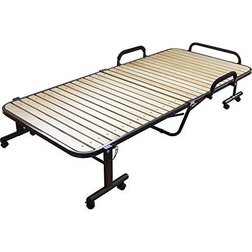 アイリスオーヤマ 天然木 すのこベッド 折りたたみ収納可 シングル ナチュラル OTB-WH 幅98×奥行203.5×高さ45cm / インテリア 寝具 ベッド 折りたたみベッド 折畳み 折り畳み フォールディング