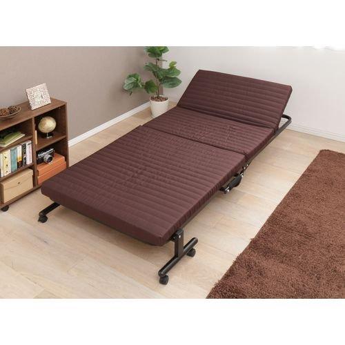 アイリスオーヤマ 折りたたみベッド OTB-BR / インテリア 寝具 ベッド 折りたたみベッド 折畳み 折り畳み フォールディング