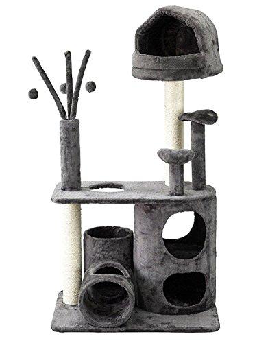 【スパイス】PAW-PAW キャットタワー ワイドタイプ グレー/HMLY4060