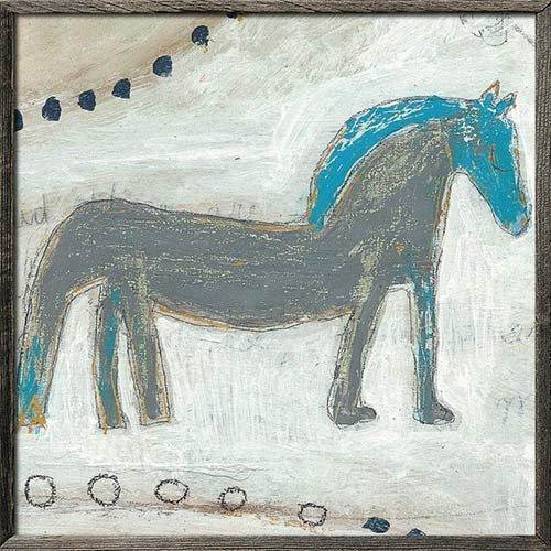 【スパイス】Horse with Blue Mane SUGARBOO/AP266-GW-24x24inch/4947849563364