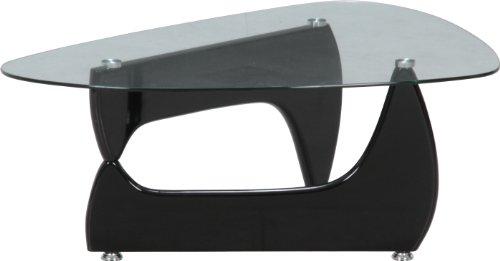 ガラスセンターテーブル ルーク ブラック fj-96140