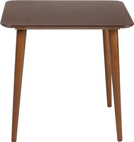 不二貿易 ダイニング テーブル エクレア 75×75 cm 3点用 ダークブラウン 92601