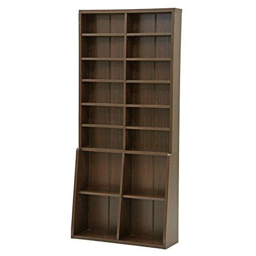 不二貿易 リビング収納 本棚 書棚 幅90cm ブラウン 67766