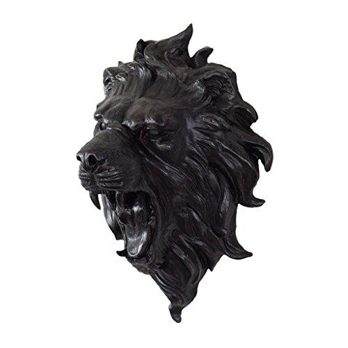 【スパイス】SHABBYCHIC アニマルウォールデコオブジェ ライオン ブラック Lサイズ/SPDR2080/4548815047101