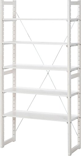 不二貿易 パインラック バリア 5枚棚板 高さ180cm ホワイトウォッシュ 20075 ラック フリーラック ディスプレイラック 整理棚 木製 ウッドラック シンプル おしゃれ
