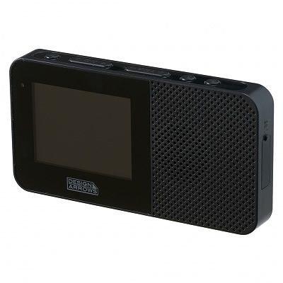 ヤザワ 2.3インチ液晶 防水ワンセグTV/AM/FMラジオ(ブラック)YAZAWA TV05BK