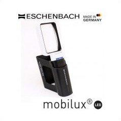 エッシェンバッハ mobiluxLED+mobase LEDワイドライトルーペ&専用スタンド 50×75mm(3.5倍) 1511-3M / 置き型になるので使いやすい!!