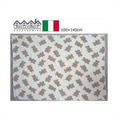 イタリア製 BiellaFabrics(ビエラファブリック) ブランケット リトルベア 100×140cm ベージュ