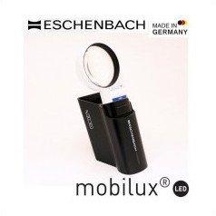 エッシェンバッハ mobiluxLED+mobase LEDワイドライトルーペ&専用スタンド 58mmΦ(5倍) 1511-5M / 置き型になるので使いやすい!!