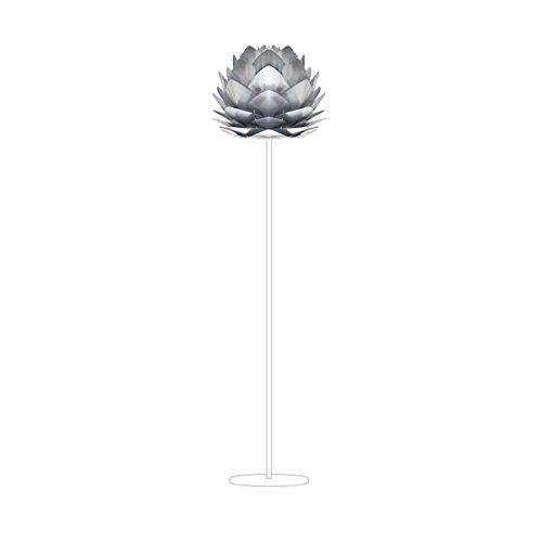 VITA Silvia steel ヴィータ シルヴィア スチール 1灯 フロアライト フロアスタンド 照明 組立式 ホワイトベース 02053-FL 【 インテリア ライト 照明 スタンドライト フロアスタンド 】
