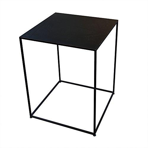 インドネシア産 アイアンキューブテーブル 55×55cm 組立て不要 【 ジャービス / アイアンキューブテーブル / 38662 】