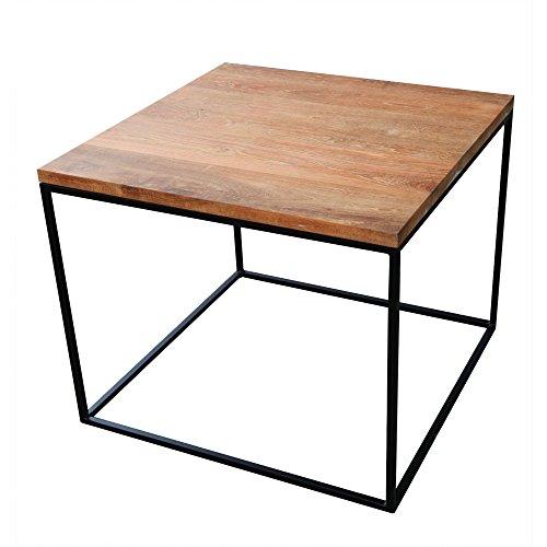 インドネシア産 アイアンウッドキューブテーブル 55×55cm 組立て不要 【 ジャービス / アイアンウッドキューブテーブル / 34257 】