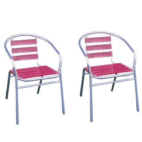 【ジャービス商事】アルミチェアYC001(RED)2脚セット 【 ジャービス / アルミチェア赤 YC001-RED / 32602 】 【2脚セット】